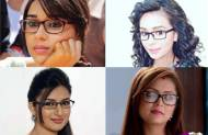 Which TV beauty looks CUTE in specs?