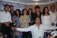 Rajaa Mukerji (below) with sister Rani and the cast'Kisi Ki Nazarr Na Lage'