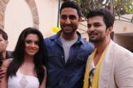 Abhishek Bachchan with Raqesh Vashisht and Riddhi Dogra