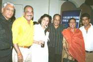 The CID team had a party (from left to right) : BP Singh, Shivaji Satam, Ravina