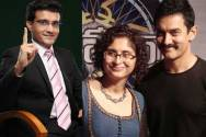 Sourav Ganguly, Aamir Khan and Kiran Rao