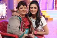 Prerna Wanvari with Saroj Khan