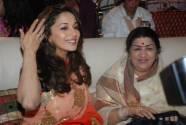 Madhuri Dixit  and Lata Mangeshkar