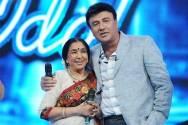Asha Bhosle with Anu Malik