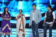 Asha Bhosle with Anu Malik, Sunidhi Chauhan, Salim Merchant