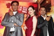 Ravi Kishan, Hazel Crowney and Producer Aparna Hoshing