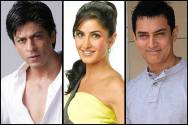 Shah Rukh Khan, Katrina Kaif and Aamir Khan