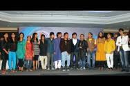 Javed Ali with Top 15 contestants of Sa re ga ma pa 2012