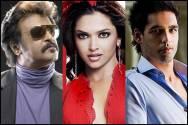 Rajnikanth, Deepika Padukone and Siddharth Mallya