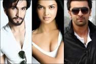 Ranveer Singh, Deepika Padukone and Ranbir Kapoor