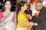 Sridevi, Sharmila Tagore and President of India Pranab Mukherjee