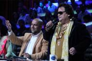 Vishal Dadlani and Bappi Da on the sets of Indian Idol Junior