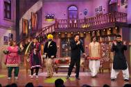 Anu Malik on the sets of Comedy Nights with Kapil