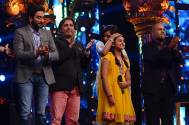 Sukhwinder Singh on the sets of Indian Idol Junior