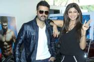 Shilpa Shetty and Harman Baweja on the sets of Comedy Nights With Kapil