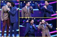 Udit Narayan pays Aditya a surprise visit on the sets of Sa Re Ga Ma Pa Li