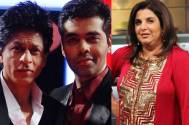 SRK and KJO in Farah Khan