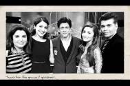 SRK with his freinds Karan Johar, Farah Khan, Alia Bhatt and Anushka Sharma