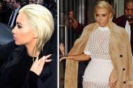 Busty Kim Kardashian goes blonde