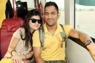 MS Dhoni and wife Sakshi