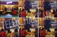 Barun Sobti dining with wife and friends