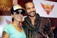 Cricketer Shikhar Dhawan and his wife Ayesha