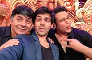 Kartik Aaryan with Sudesh Lahiri and Krushna Abhishek
