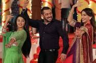 Helly Shah with Salman Khan and Sonam Kapoor