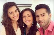 Tanya Sharma with Varun Dhawan and Kriti Sanon