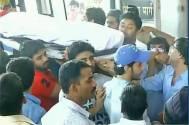 Pratyusha Banerjee being carried to Crematorium ground