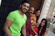 Mrunal with wife Sweety and family