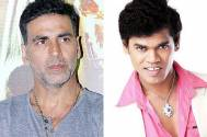 Akshay Kumar and Siddharth Jadhav