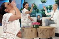 riyanka Chopra downs a tequila shot on Ellen DeGeneres's show