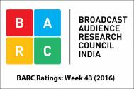 BARC Ratings: Week 43 (2016)