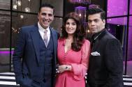 Akshay Kumar and Twinkle Khanna with Karan Johar