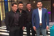 Karan Johar with Salman Khan and his brothers Arbaaz and Sohail