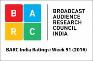 BARC India Ratings: Week 51 (2016)