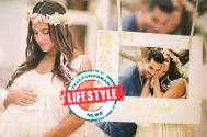 Soon-to-be mommy Neha Dhupia makes a style statement in a floral tiara for her baby shower
