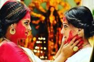 Raima Sen and Priyanka Sarkar