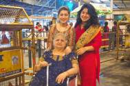 Aditi Bhatia takes mother, grandmother to Siddhivinayak temple