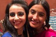 Television actress Shrenu Parikh & Meera Deosthale bond during COLORS' Sitaaron Ki  Vijaydashmi event