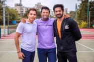 Leander Paes visits Mumbai sports club; promotes his tennis team