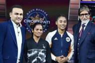Kaun Banega Crorepati 11: Big B welcomes Virendra Sehwag, Dutee Chand and Hima Das on sets