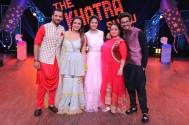 Hina Khan celebrates Diwali with the cast and crew of 'The Khatra Show'