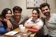 Karanvir Bohra, Teejay, Jay Bhanushali and Mahhi Vij's coffee date