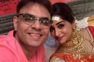 Dipika Kakar Ibrahim poses with Kahaan Hum Kahaan Tum producer Sandip Sickand; captions the picture 'SANPIKA'!