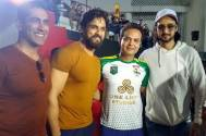 Television's leading stars come to cheer Siddharth Kumar Tewary at a tennis match!