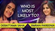 Debattama Saha and Simran Pareenja