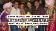 Shaheer-Rhea along with the cast of Yeh Rishtey Hain Pyar Ke bid adieu to Bappa
