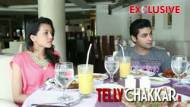 Happy couple Ruslaan and Nirali dines with Tellychakkar.               com